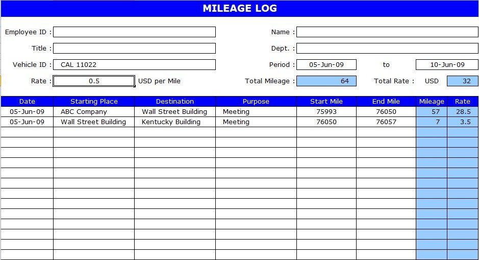 Vehicle Mileage Log Template Log Templates Pinterest Logs - free log templates
