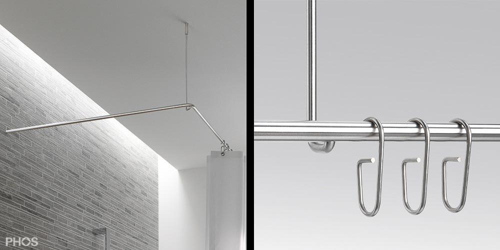 Duschvorhangstange Edelstahl L Form Fur Badewanne Dse1700 700 Duschvorhangstange Dusche Badewanne