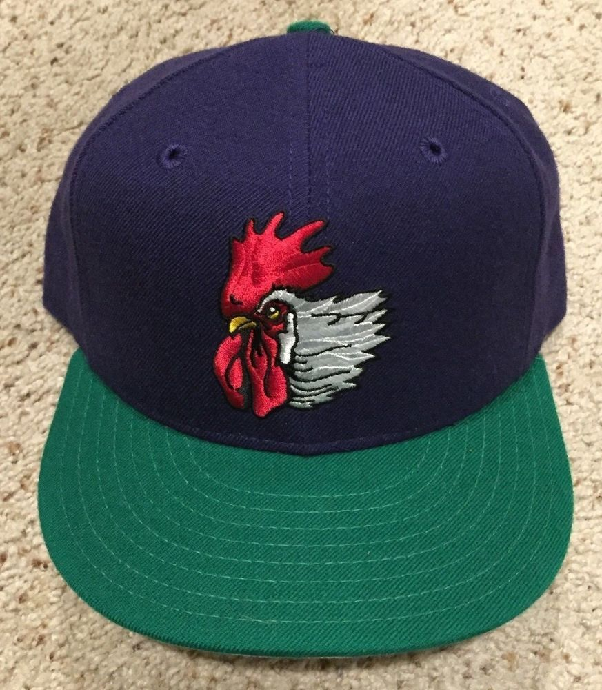 493b6c5b3 New Port City Roosters New Era 59 FIFTY Fitted 7 1 2 VINTAGE Baseball Hat  Cap