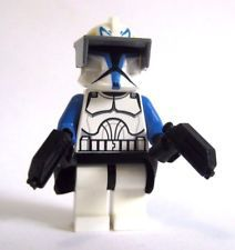 Lego Custom Captain Rex Phase 1 Minifigure Custom Helmet Pistols
