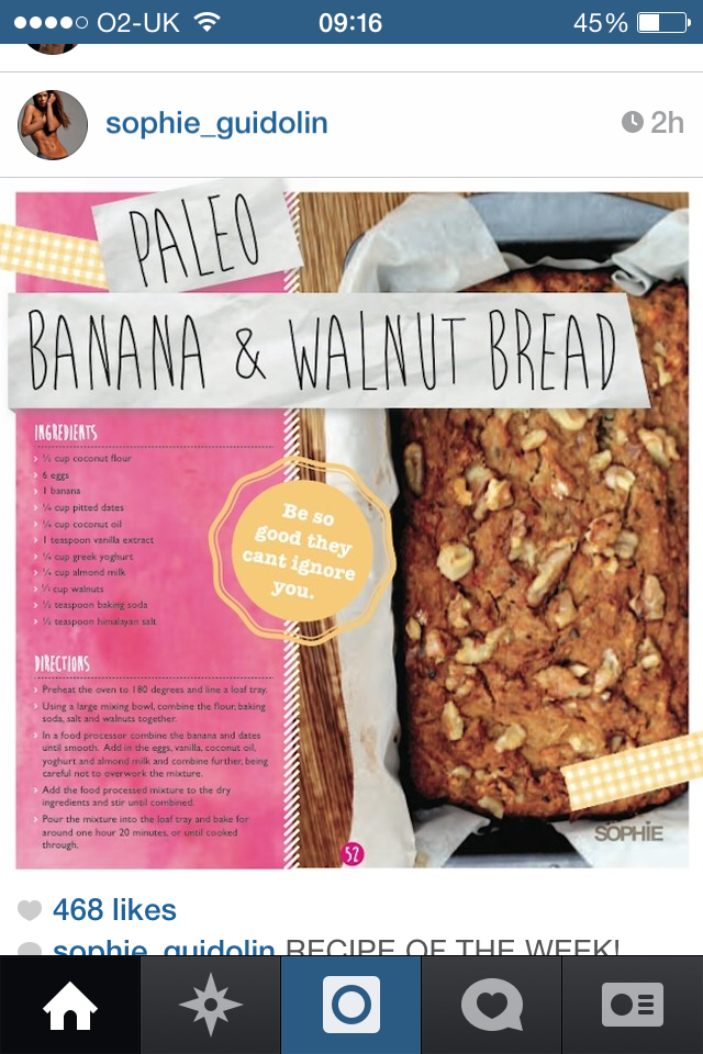 Sophie guidolins recipe for paleo banana and walnut bread sophie guidolins recipe for paleo banana and walnut bread forumfinder Images