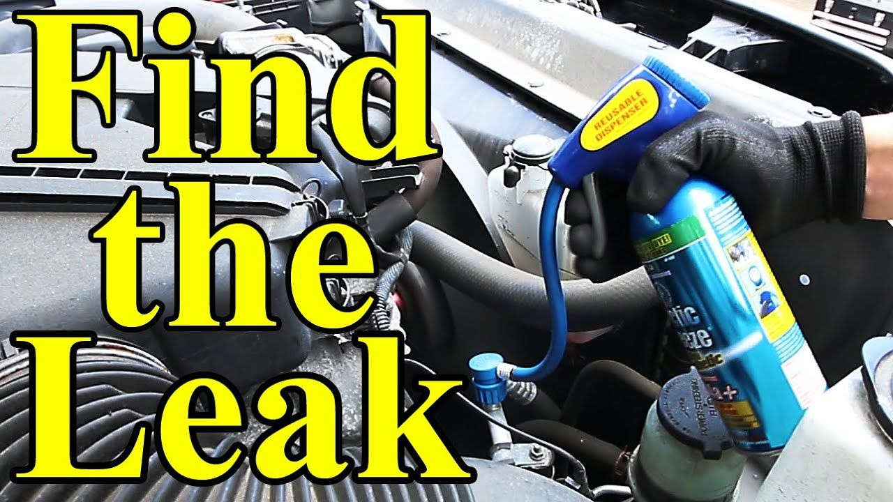 How to find ac leaks in your car uv dye youtube