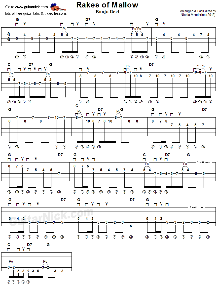 Rakes Of Mallow Guitar Tablature In 2020 Guitar Tabs Music Guitar Banjo Chords Here are the most popular versions chords, ukulele chords. pinterest