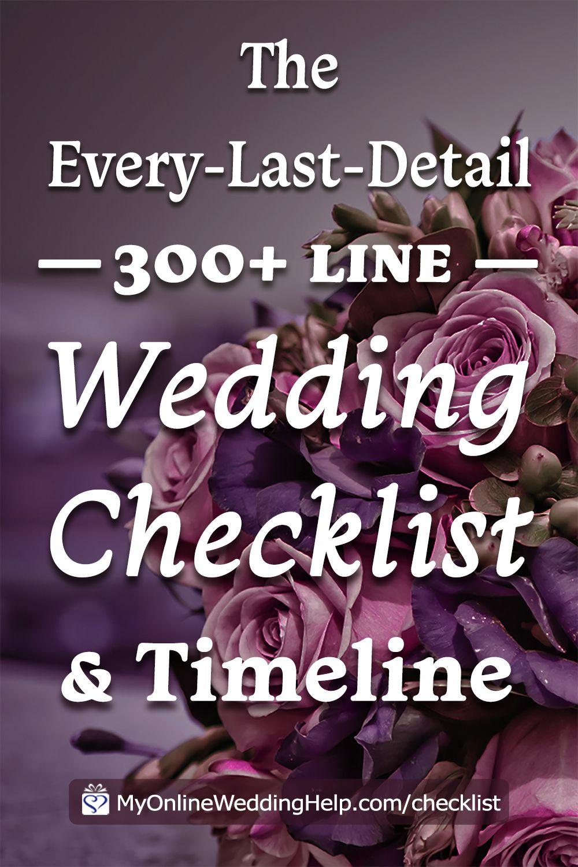 Your Complete Wedding Checklist. 10 Steps plus Timeline.