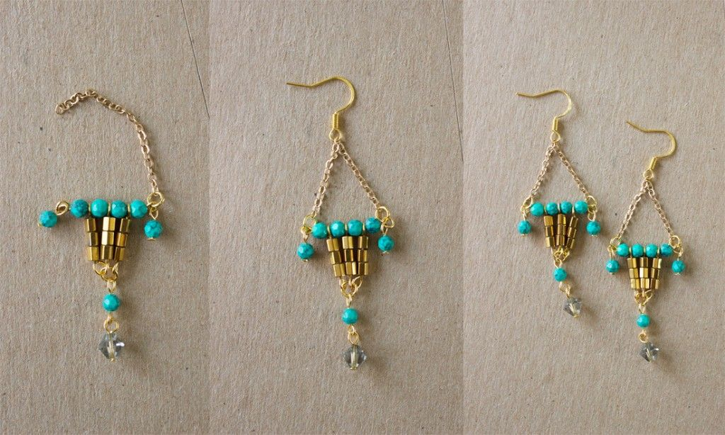 Diy chic chandelier earrings within 20 minutes 5 jewerly making diy chic chandelier earrings within 20 minutes 5 aloadofball Choice Image