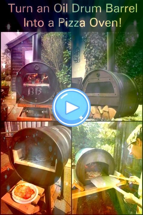 an oil drum barrel into a pizza oven Turn an oil drum barrel into a pizza oven  Its never too early for pizza Pic Credit garyswoodfiredpizza     LADRILLO REFRACTARIO8  JU...