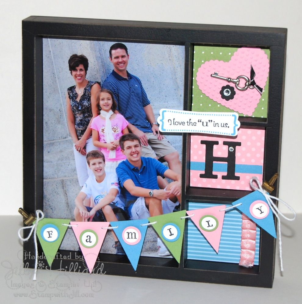 Family scrapbook ideas on pinterest - Family Scrapbook Layout Idea For Shadow Box