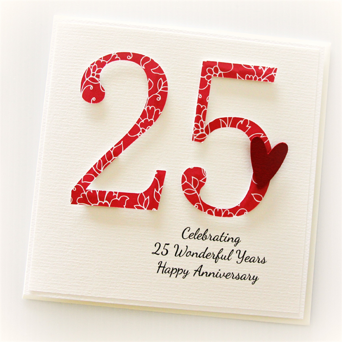 Personalised 25th Anniversary Card Wedding Anniversary Personalized Anniversary Cards 25th Wedding Anniversary Wishes 25th Anniversary Wishes