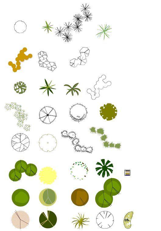 Landscape Architecture Drawing Symbols Inspiration 512958