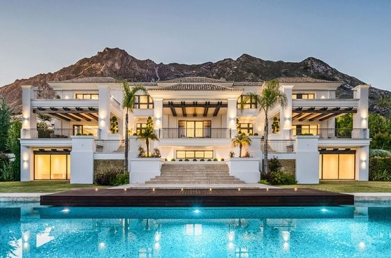Surrounded By Pine Trees And Greenery In The Prestigious Sierra Blanca This Magnificent Newly Built Poperty With A Stunning Pan Mansions Marbella Luxury Homes
