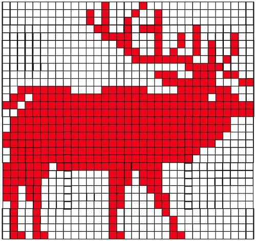 Knitting Charts Christmas : Elk knitting graph yarn crochet pinterest
