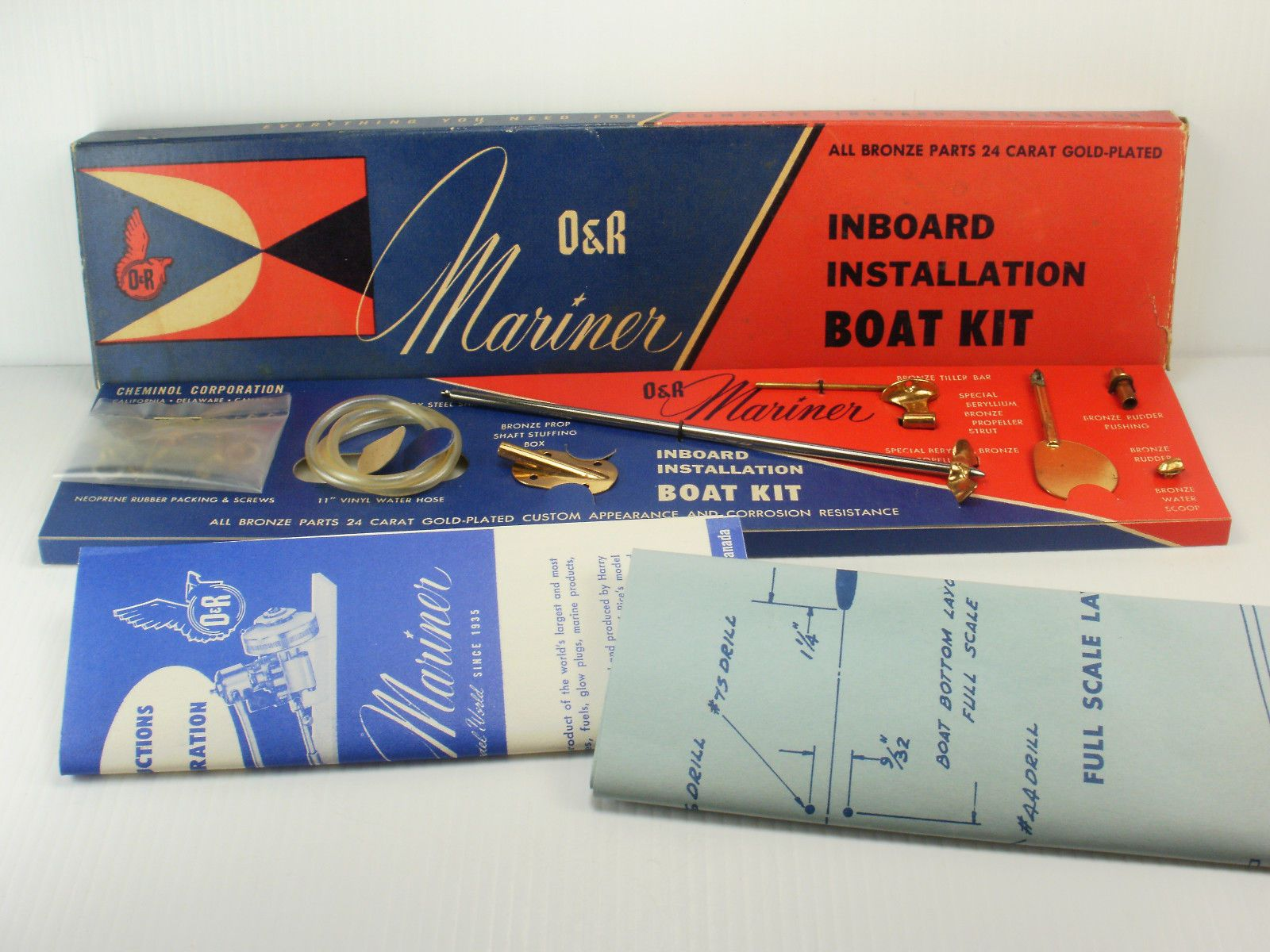 New In Box Vintage Or Mariner Inboard Marine Engine Installation How To Wire Boat Accessories Kit Ebay