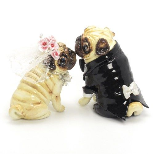 Pug Saints Wedding Cake Topper Dog Wedding Cake Hehehe