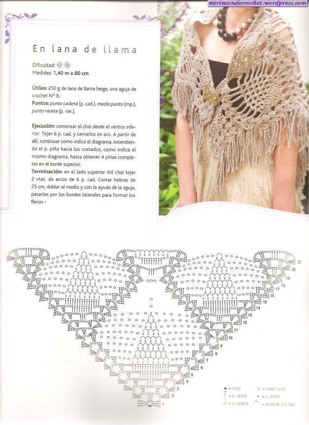 Capas y Chales | Mi Rincon de Crochet | Chales | Pinterest | Croché ...