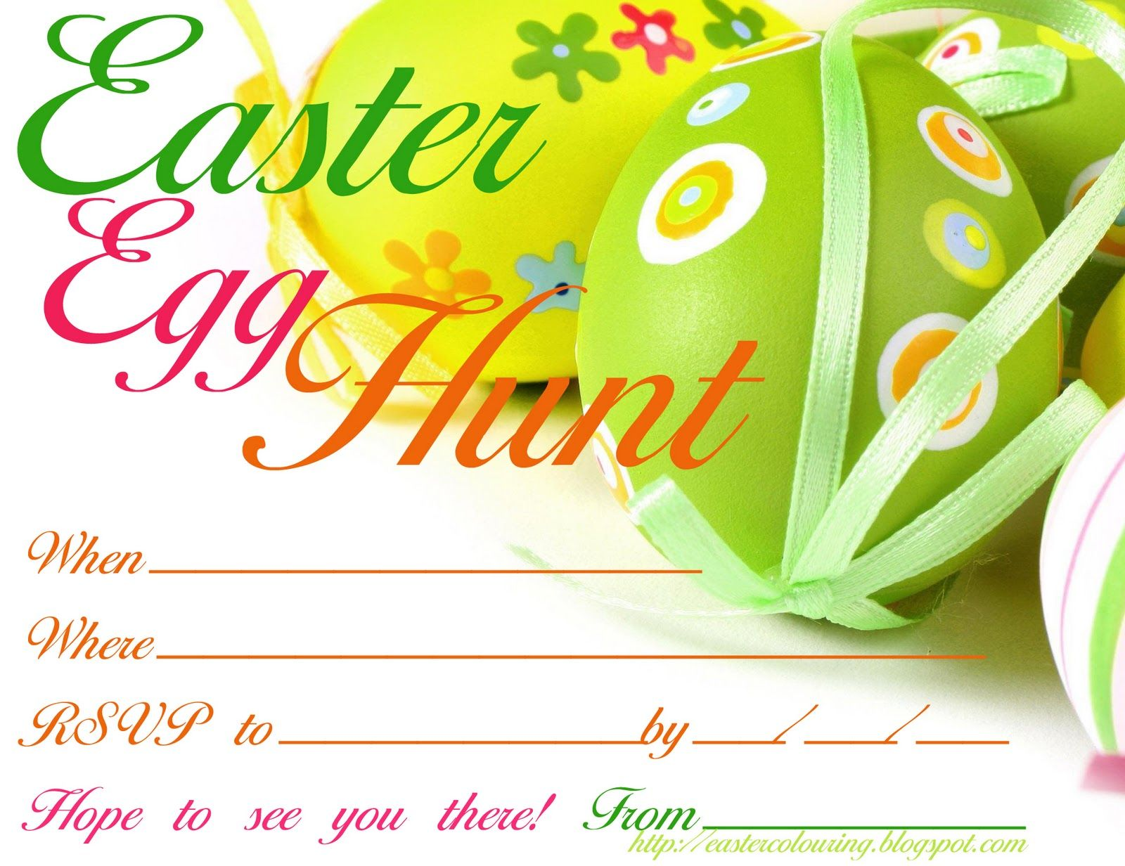 easter egg hunt free printable invitation  print however many you, party invitations