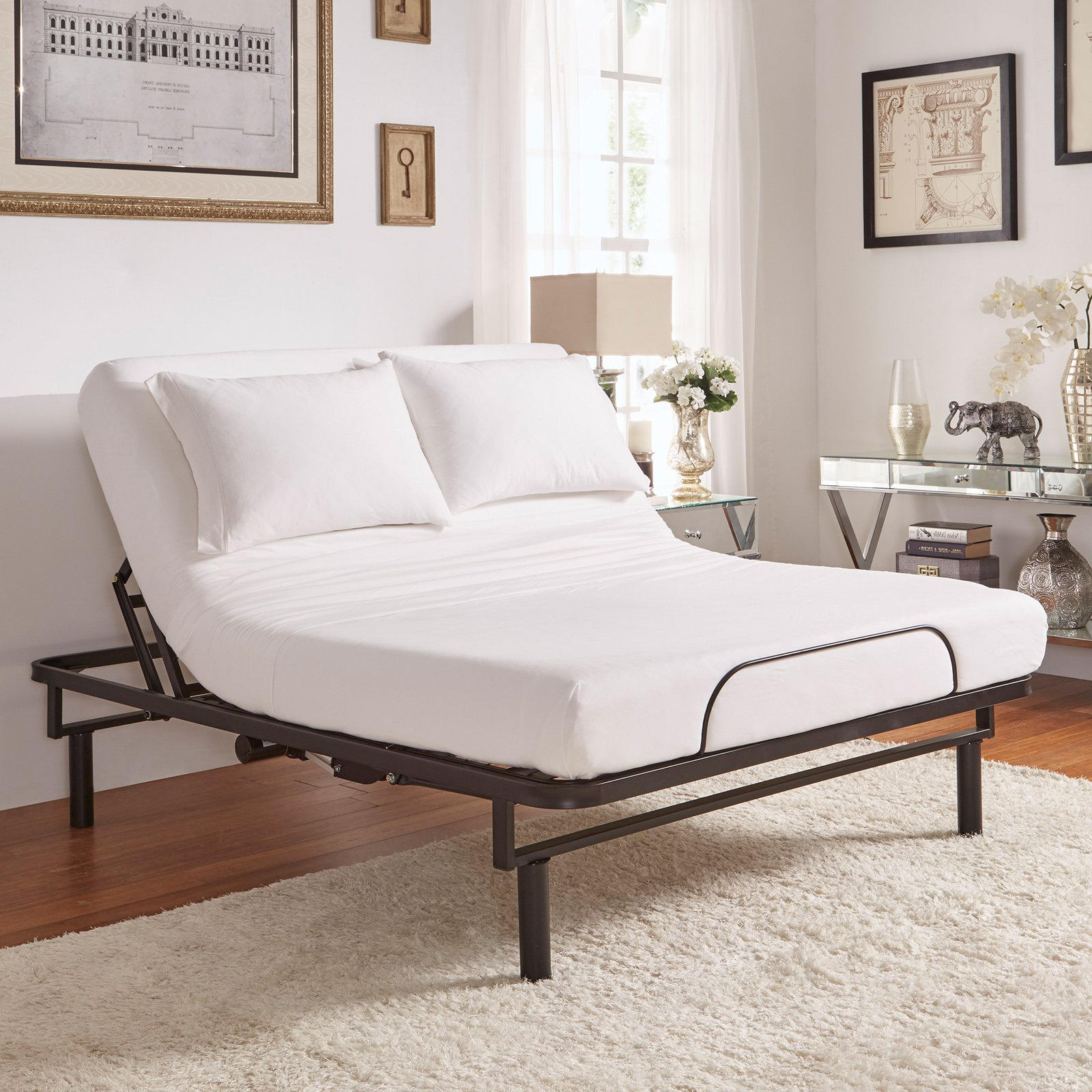 Weston Home Ron Adjustable Electric Bed Base With Wireless Remote