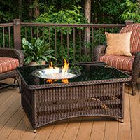 Naples Wicker Coffee Table Fire Pit Ogr Naples Ct B K Cheap