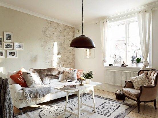 Romantique Appartement Avec des Touches Shabby Chic decodesign / Décoration