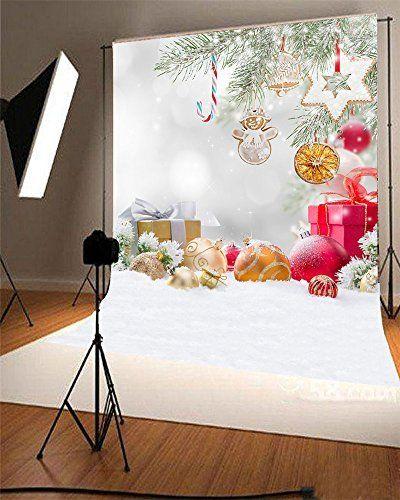 5x7ft kate white fondo de navidad para estudio de fotos d - Decoracion navidena amazon ...