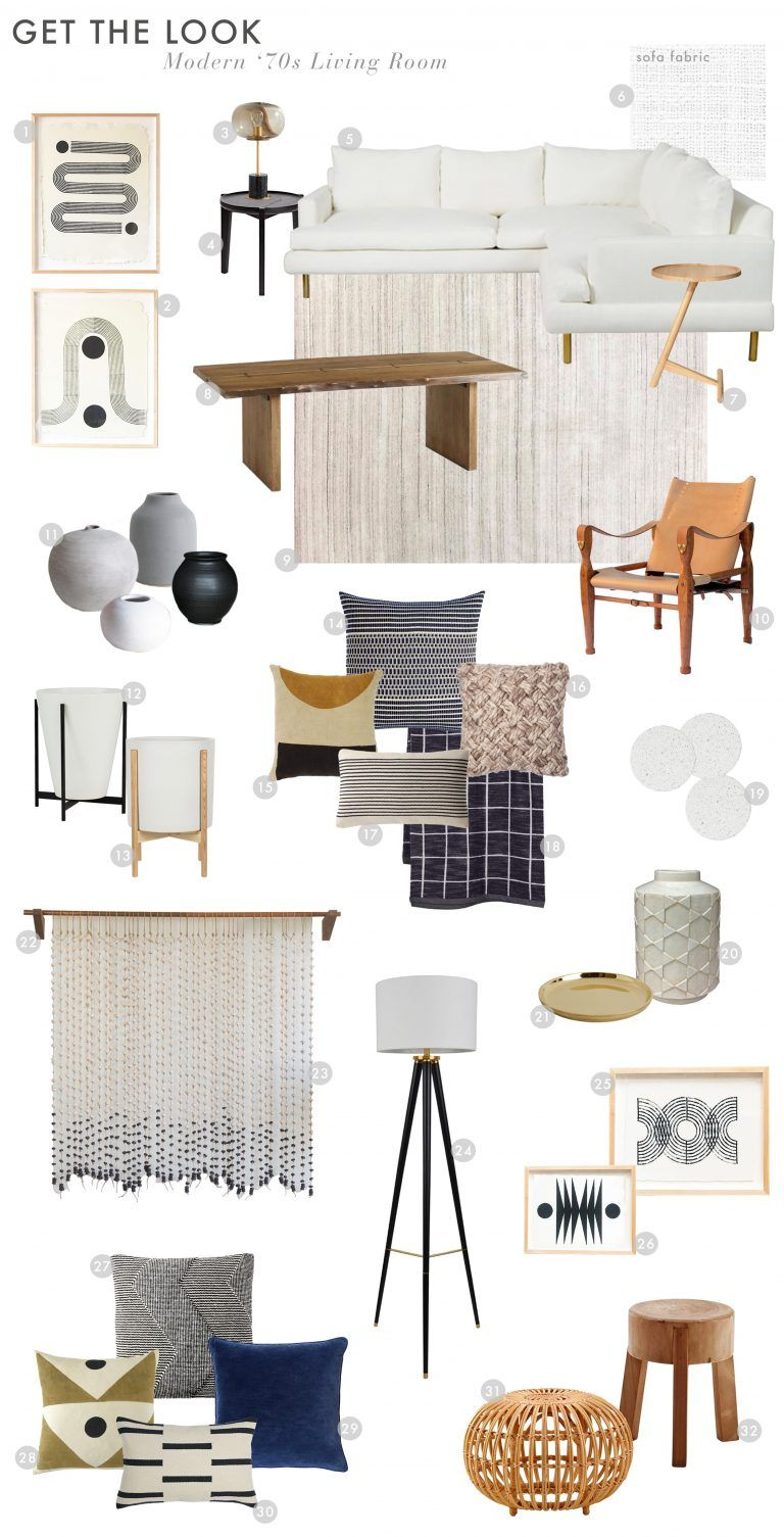 A Modern and Organic Living Room Makeover + Get The Look - Emily Henderson