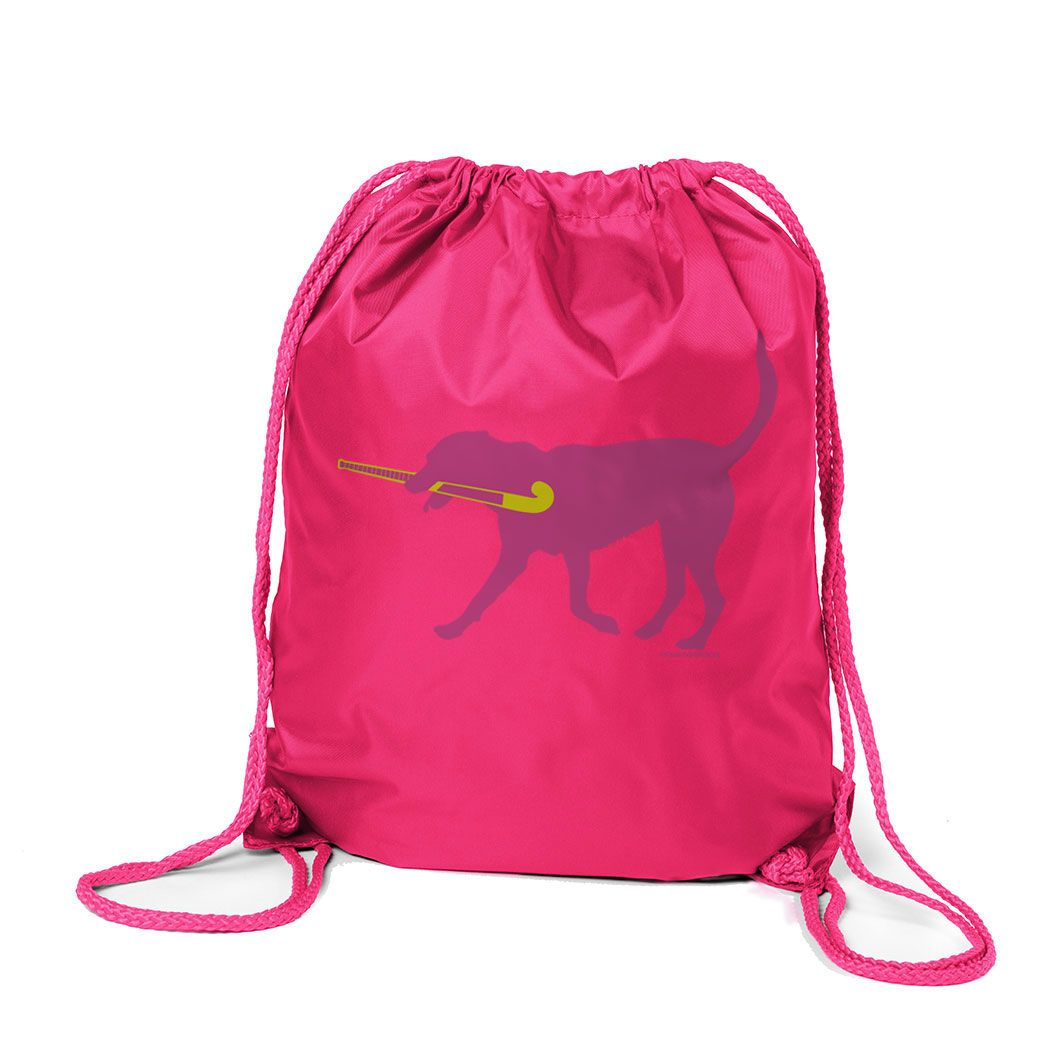492daadf632a Field Hockey Sport Pack Cinch Sack Fetch the Field Hockey Dog in ...