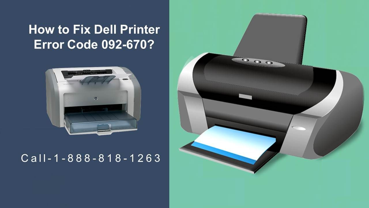 How To Fix Dell Printer Error Code 092 670 Coding Error Code