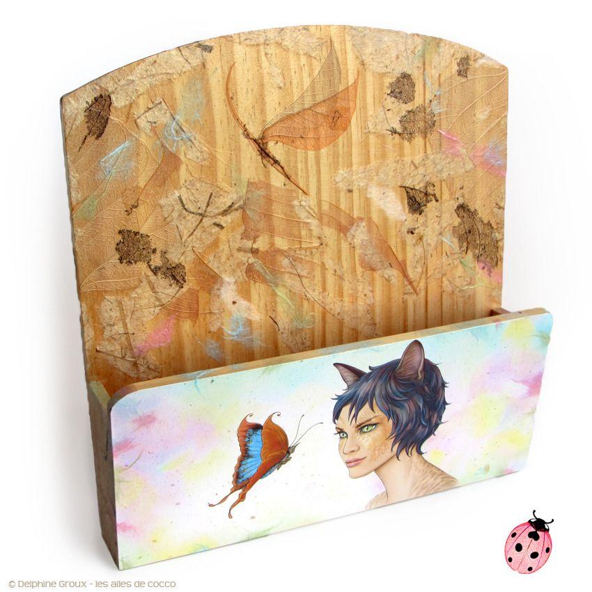 Range Courrier Mural Porte Lettres En Bois Illustré Myrina La