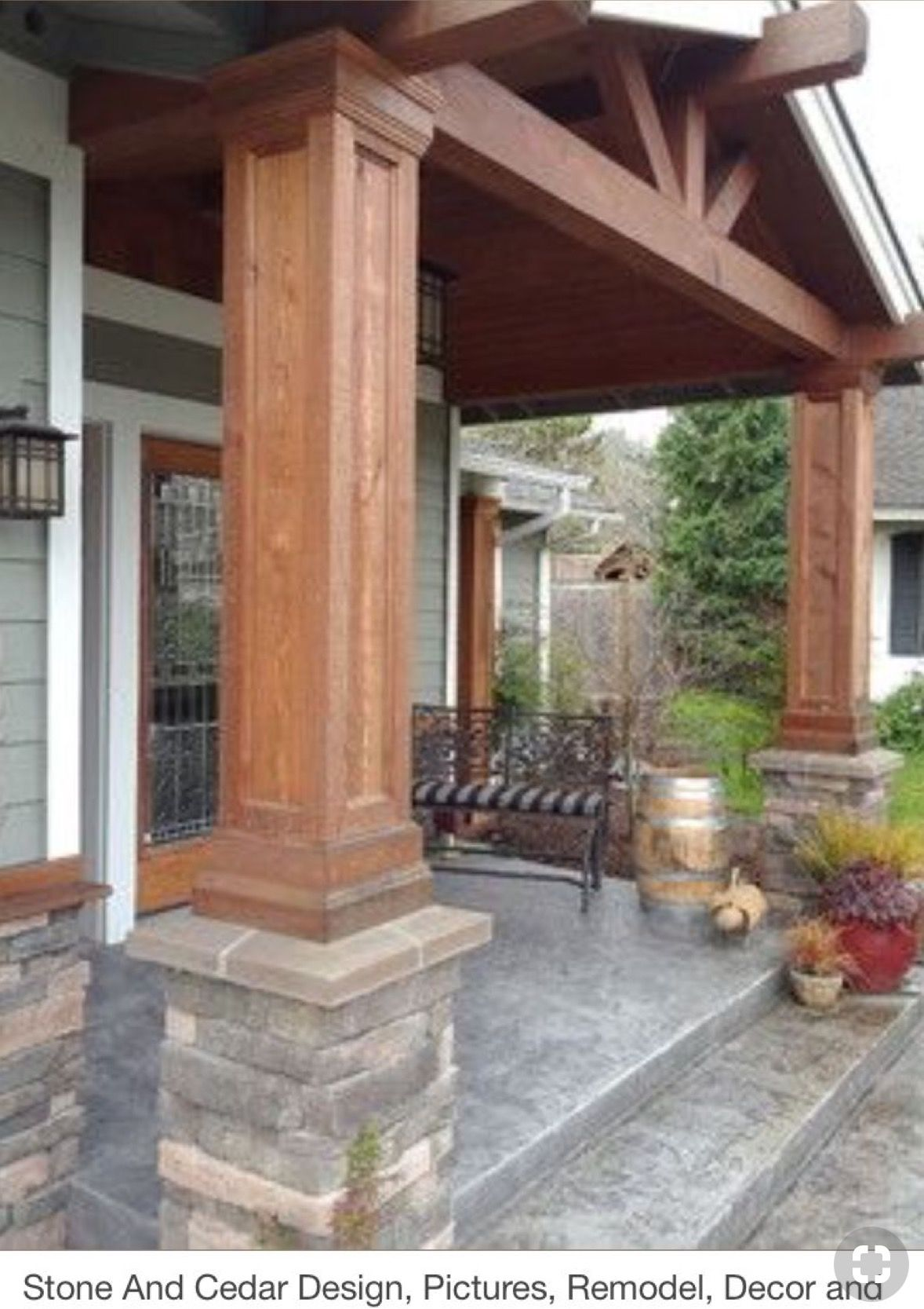 Pin By Eric Thayer On Home In 2020 Porch Remodel House Exterior