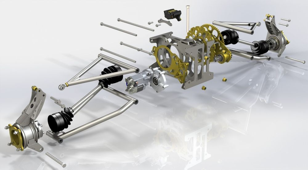 Details about S1 Rear suspension plans, bike powered mini dune buggy
