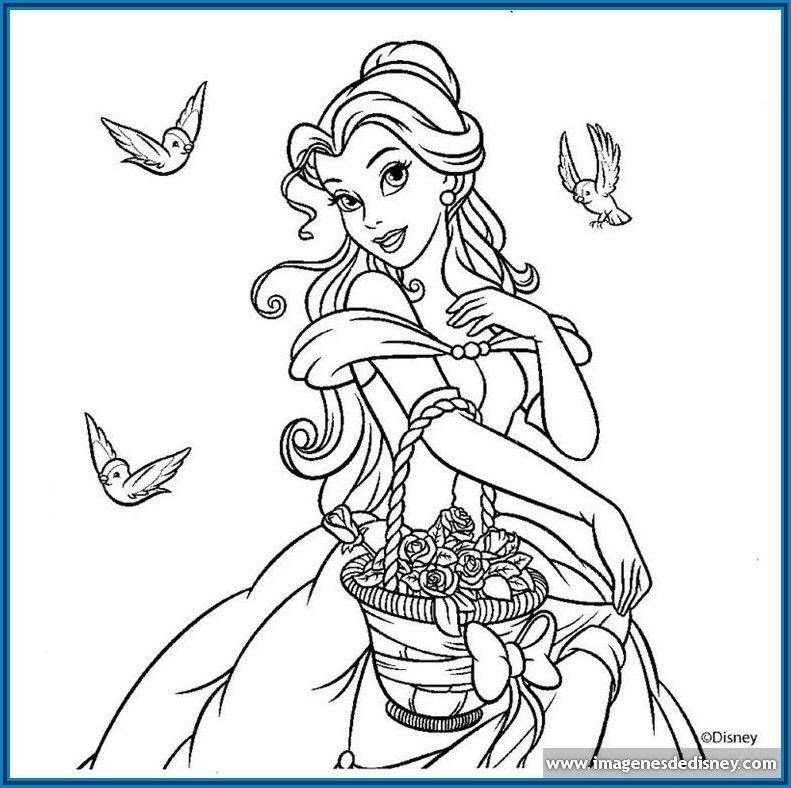 Dibujos Para Colorear De Princesas Disney Para Imprimir Jpg 791