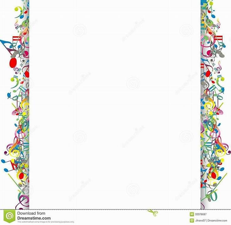 Image result for free clip art musical borders transparent