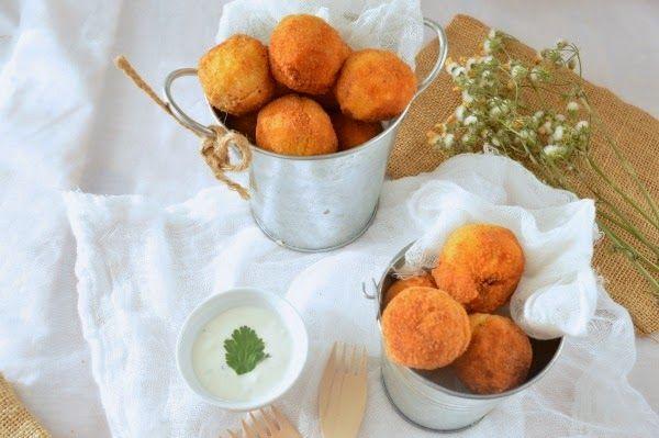 Croquetas De Patata Y Salmón Con Salsa De Yogurt Cooking Recipes Food Tapas