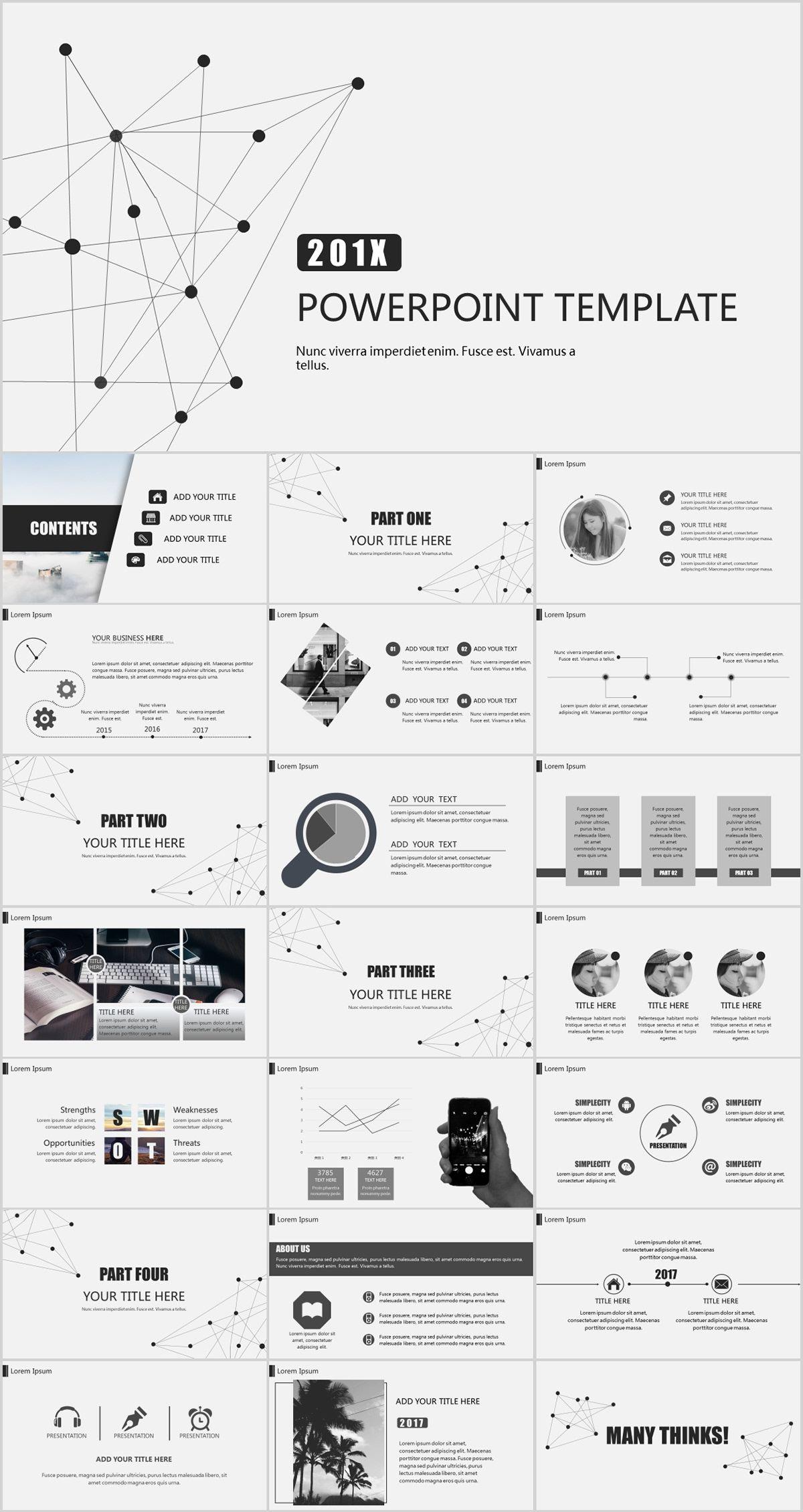 Best Gray Business Design Powerpoint Templates Powerpoint