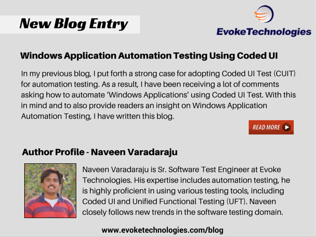 Windows Application Automation Testing Using Coded UI