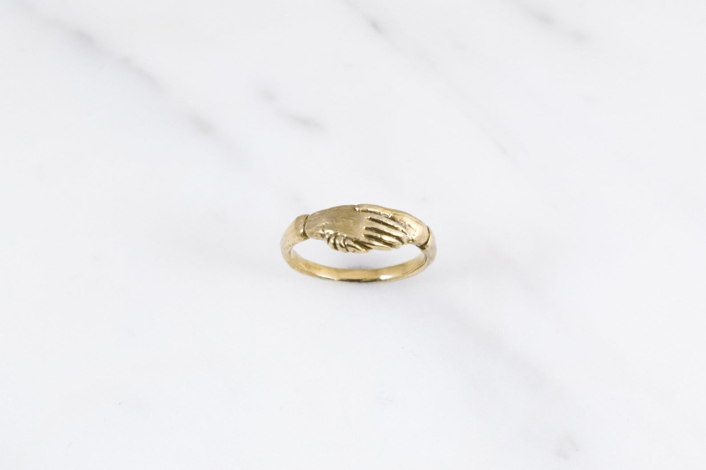 Fede Ring Brass Etsy (With images) How to wear rings