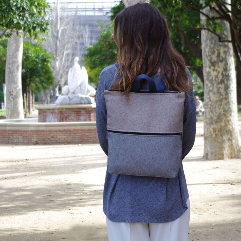 Mochila Dero avellana - Nansa - Hecho a mano en Barcelona | Diseñados y bolsos hechos en Barcelona, | Nansa