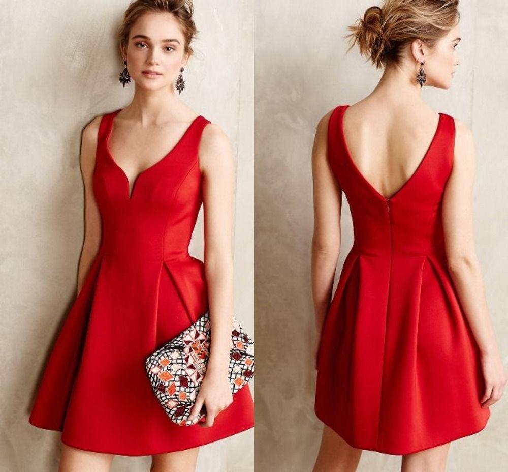9fae627bf644 30 Vestidos cortos para fiesta en color rojo   Vestidos Glam   Б ...