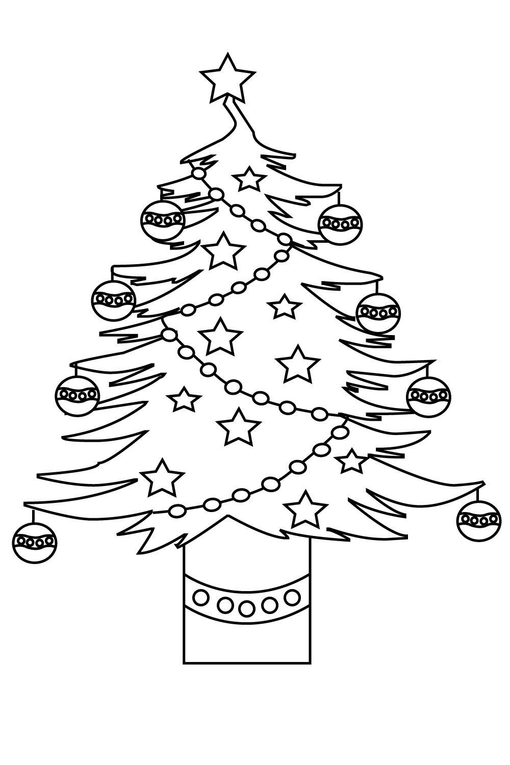 Christmas Tree Coloring Pages For Kids Free Printable Adults Toddlers Christmas Tree Coloring Page Tree Coloring Page Printable Flower Coloring Pages