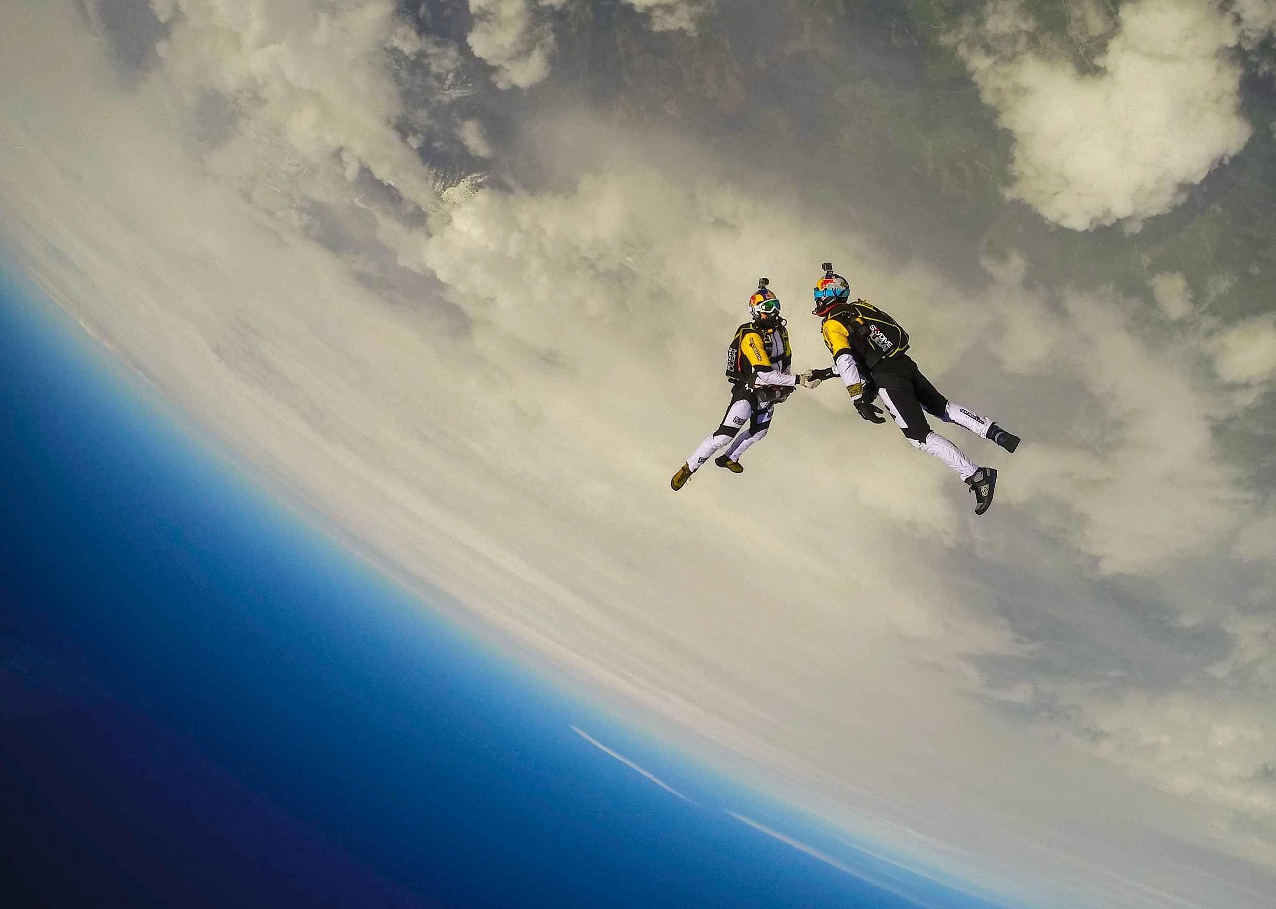 Lingerie Skydiving