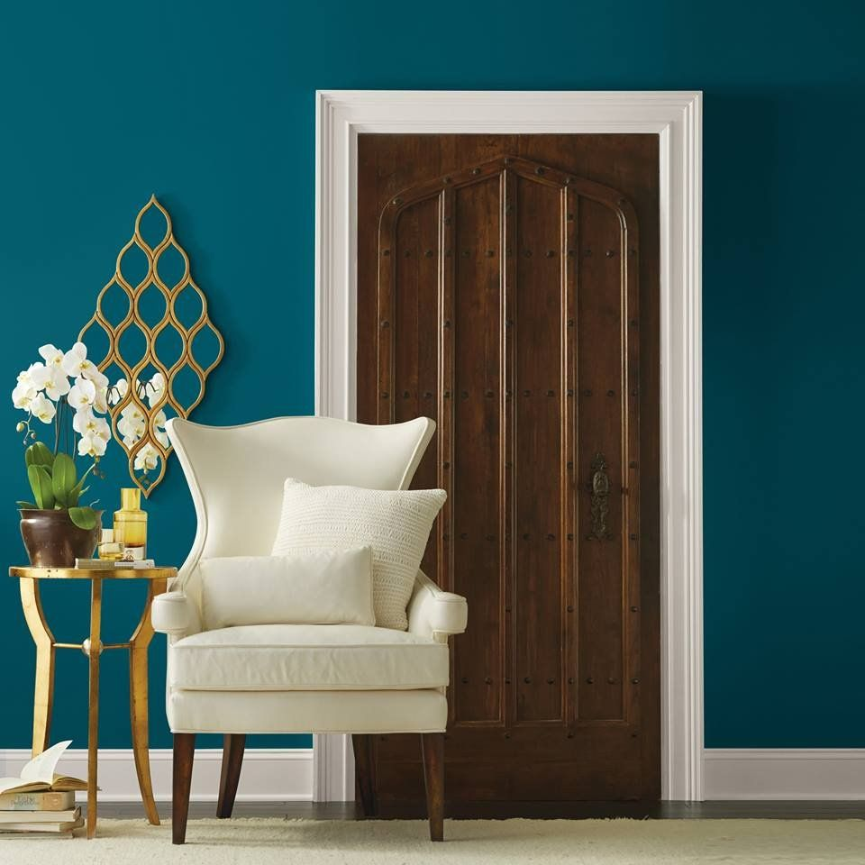 hgtv home by sherwin williams oceanside blue interior on sample color schemes for interiors id=38113