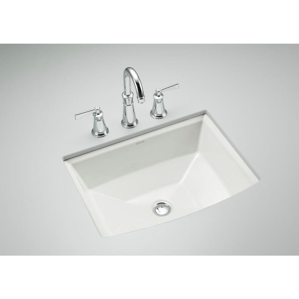 Kohler Archer Vitreous China Undermount Bathroom Sink In White