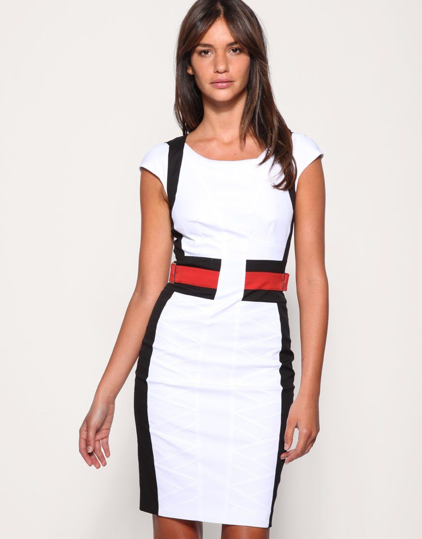 Fashion Women's Work Dress Office Lady OL Wear Summer Slim Simple ...