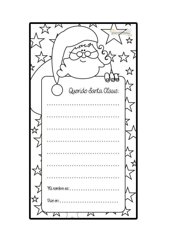 Carta a Santa Claus para imprimir y colorear: | Disney para imprimir ...