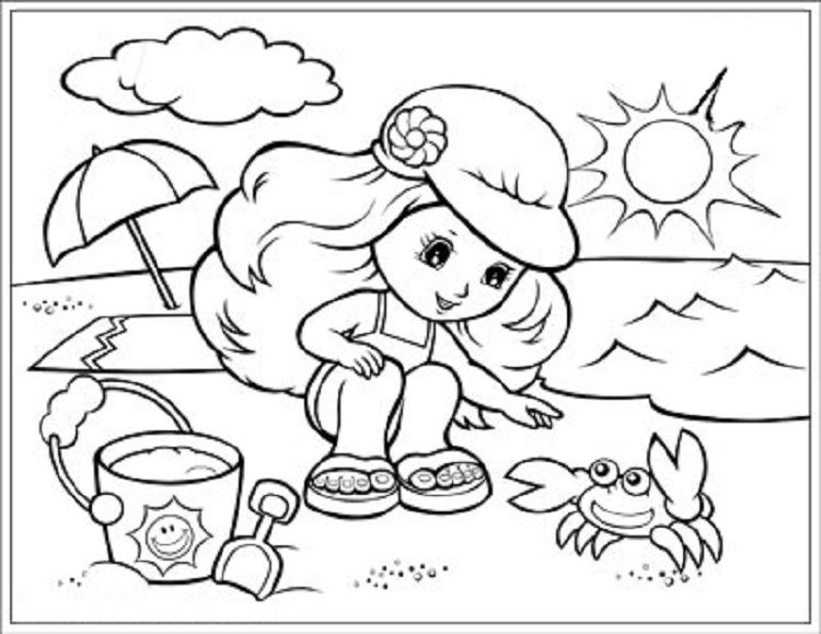 summer season coloring pages  Summer coloring pages, Beach