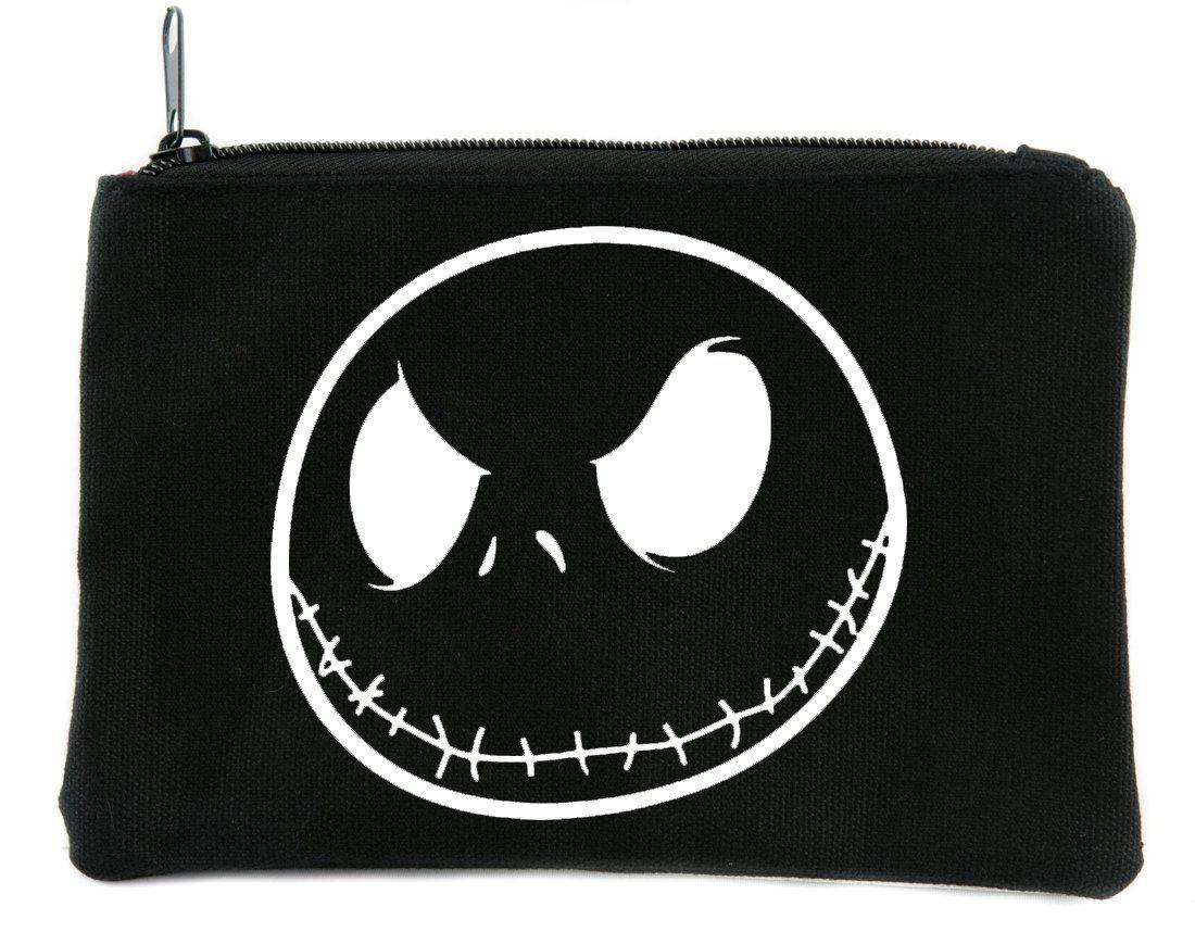 Negative Jack Skellington Face Cosmetic Makeup Bag Pouch