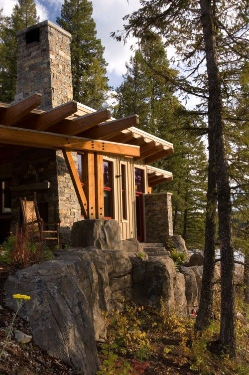 Pin By Natacha Bilodeau On Home Sweet Home Rustic Exterior House Design Cabins And Cottages