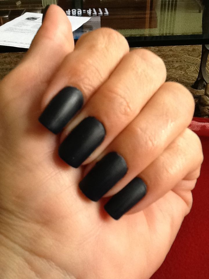 Matte for the first time. You need enough polish to cover your nail ...