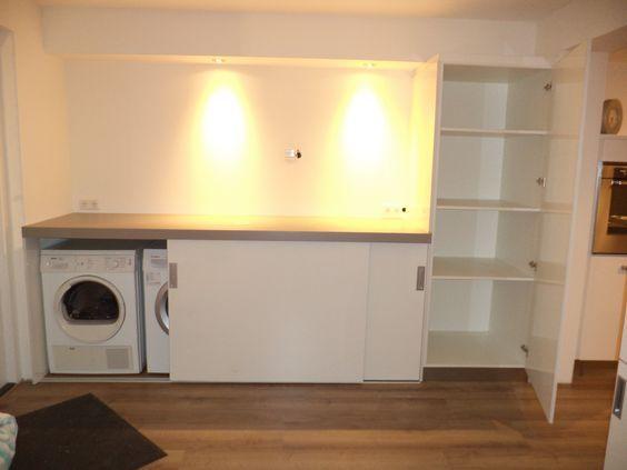 Kast ombouw wasmachine - Opbergen   Pinterest - Kast, Zolder en Badkamer