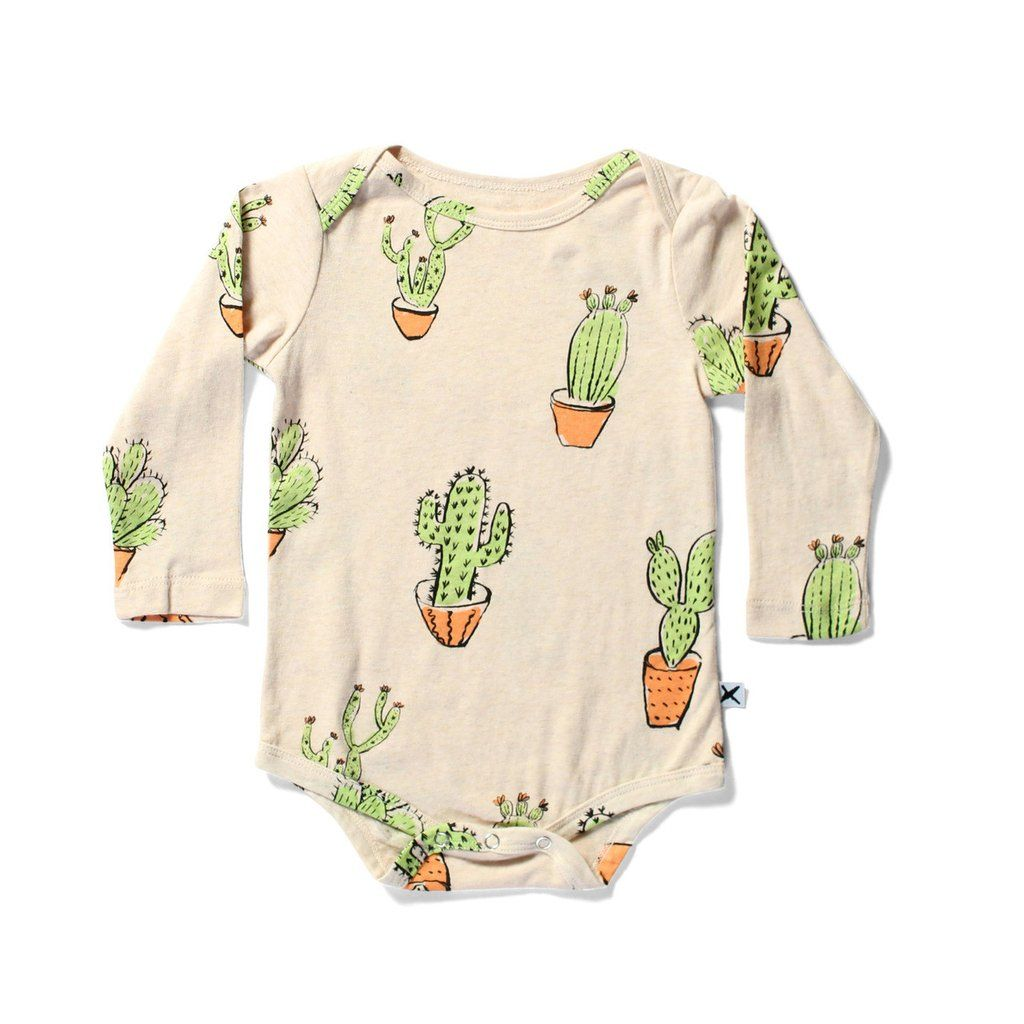 Minti Baby Cactus Ls Onesie Cool Baby Clothes Tiny Style