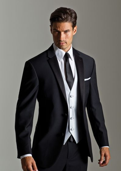 Super 100s Skinny Notch By Ralph Lauren Wedding Tuxedos Mens Black Suits